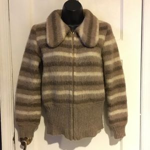 Ice Wool Jackets & Coats - Vintage Ice Wool Sweater Bomber